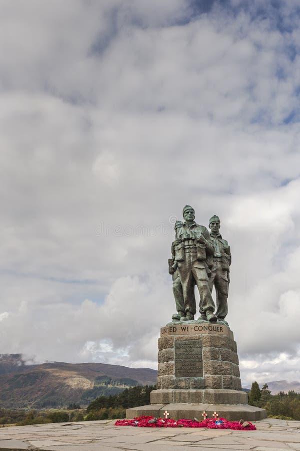 在Spean桥梁的特攻队纪念品在苏格兰 免版税图库摄影