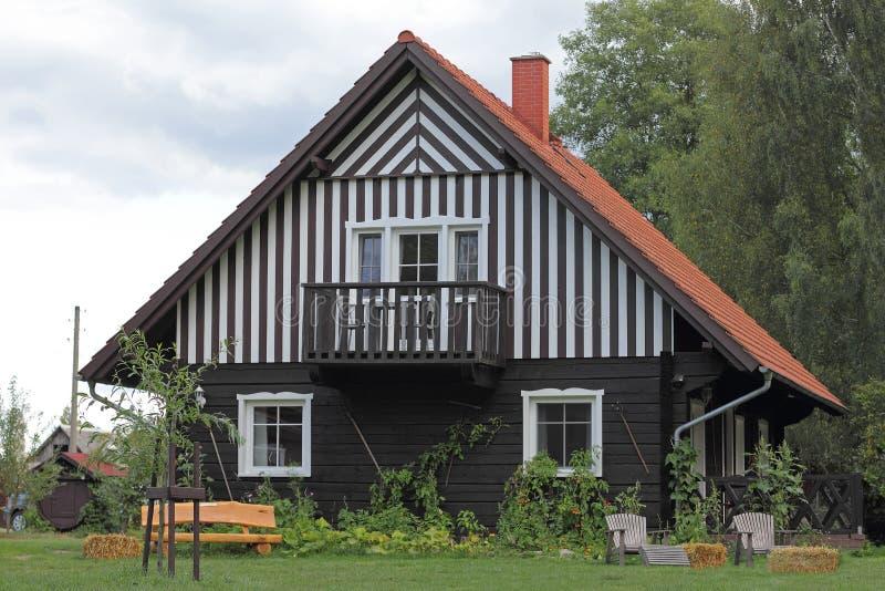 在Spreewald的村庄在德国 库存照片