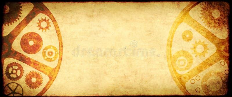 在steampunk样式的难看的东西背景 皇族释放例证
