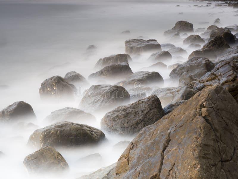 在stoney海岸的早晨光 免版税库存照片