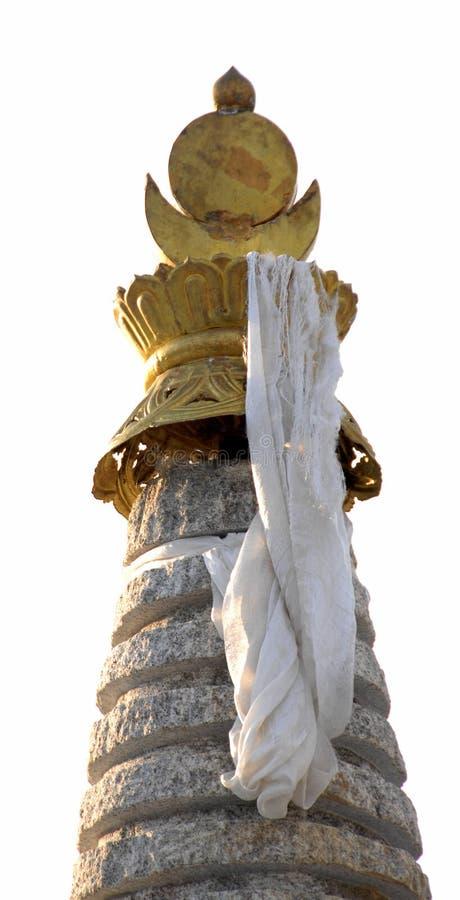 在stupa的祷告标志 库存图片