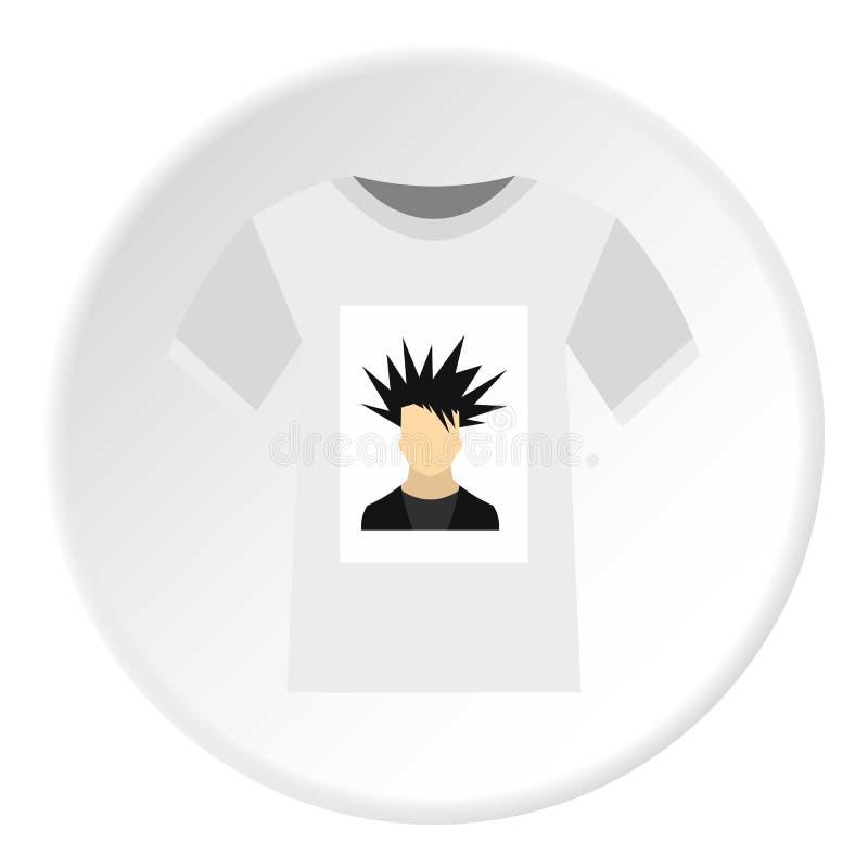 在T恤杉象,平的样式的打印照片 皇族释放例证