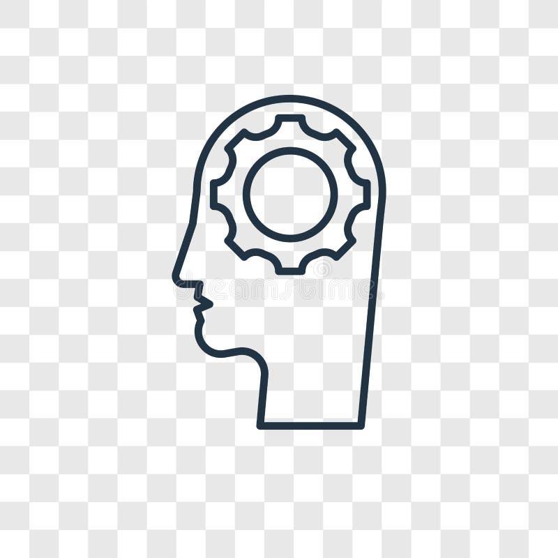在t隔绝的人工智能概念传染媒介线性象 皇族释放例证