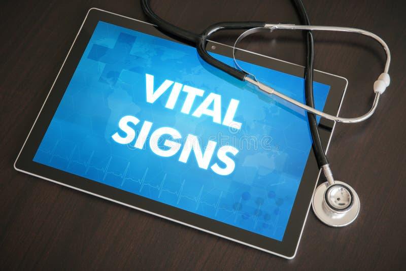 在ta的重要标志(相关的心脏病学)诊断医疗概念 免版税库存图片