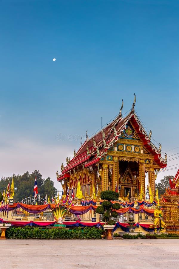 在Tamma平底锅ya寺庙,泰国的大厦 免版税库存图片