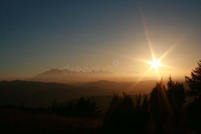 在Tatra山的看法 免版税图库摄影