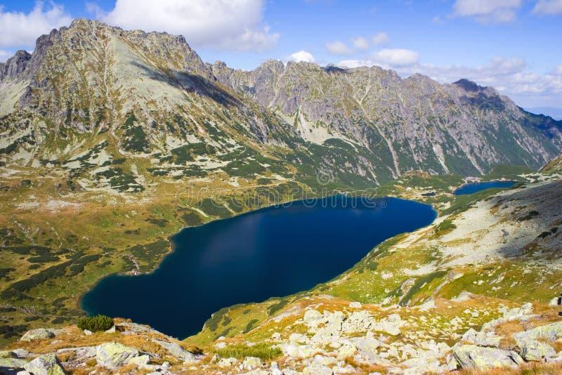 在Tatra山的5个湖谷 免版税库存照片