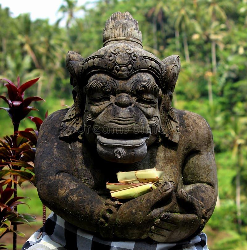 在tegallalang巴厘岛的雕象 免版税库存照片
