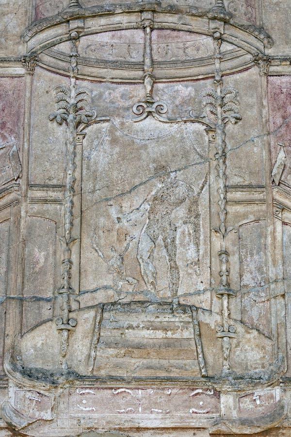 庞贝城,古老罗马城市在意大利 库存图片