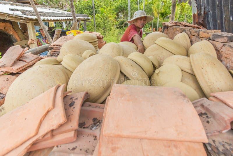在Thanh Ha村庄在会安市,越南 图库摄影