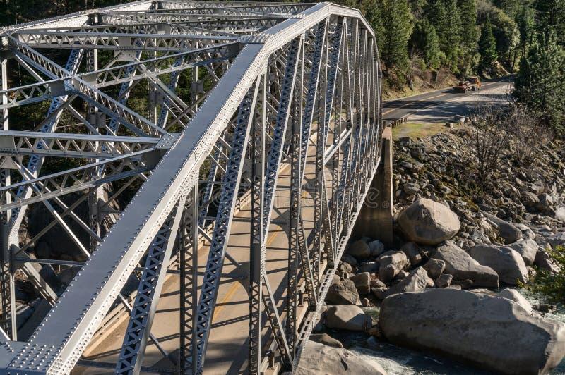 在Tobin双桥梁的高速公路桥梁 库存照片