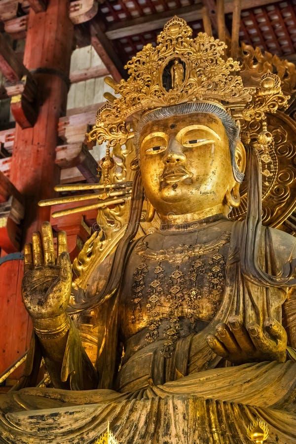 在Todaiji寺庙的Nyoirin Kannon在奈良 图库摄影