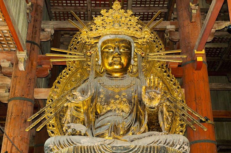 在Todaiji寺庙的Nyoirin Kannon在奈良 免版税库存照片