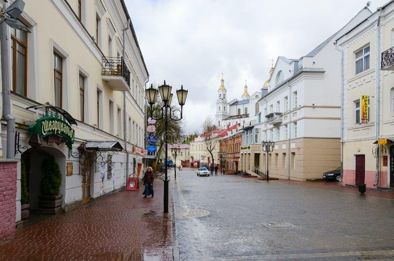 在Tolstogo街上的咖啡馆Schwarzwald在维帖布斯克 库存照片