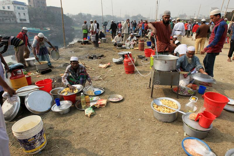 在Tongi,孟加拉国的Bishwa Ijtema 免版税图库摄影