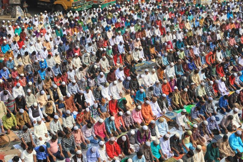 在Tongi,孟加拉国的Bishwa Ijtema 免版税库存图片