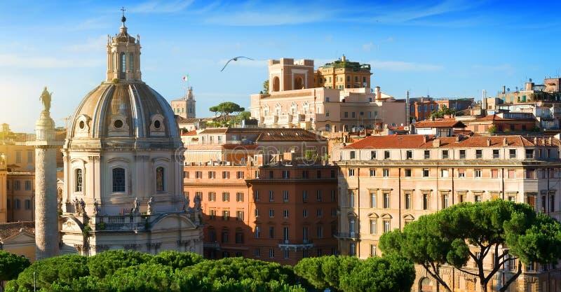 在Trajan论坛的看法 免版税图库摄影