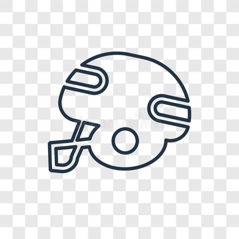 在transpa隔绝的美式足球概念传染媒介线性象 皇族释放例证