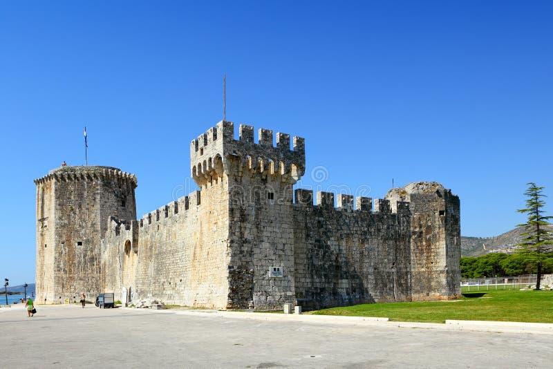 在Trogir的Kamerlengo城堡 库存图片
