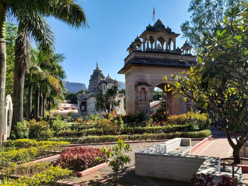 在tryambak nashik印度的寺庙 图库摄影