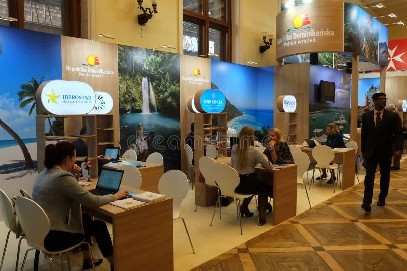 在TT华沙的多米尼加共和国立场2017年 免版税库存照片