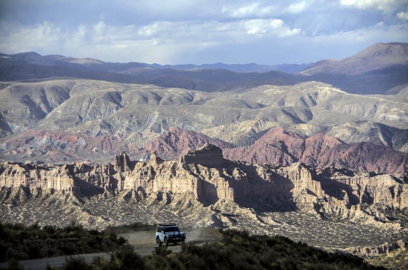 在Tupiza,玻利维亚附近的不祥之物 库存照片