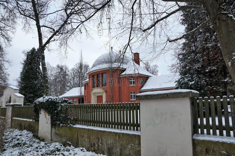 在tuttlingen的火葬场大厦 免版税库存照片