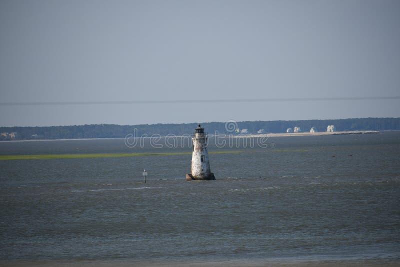 在Tybee海岛上的灯塔 库存照片