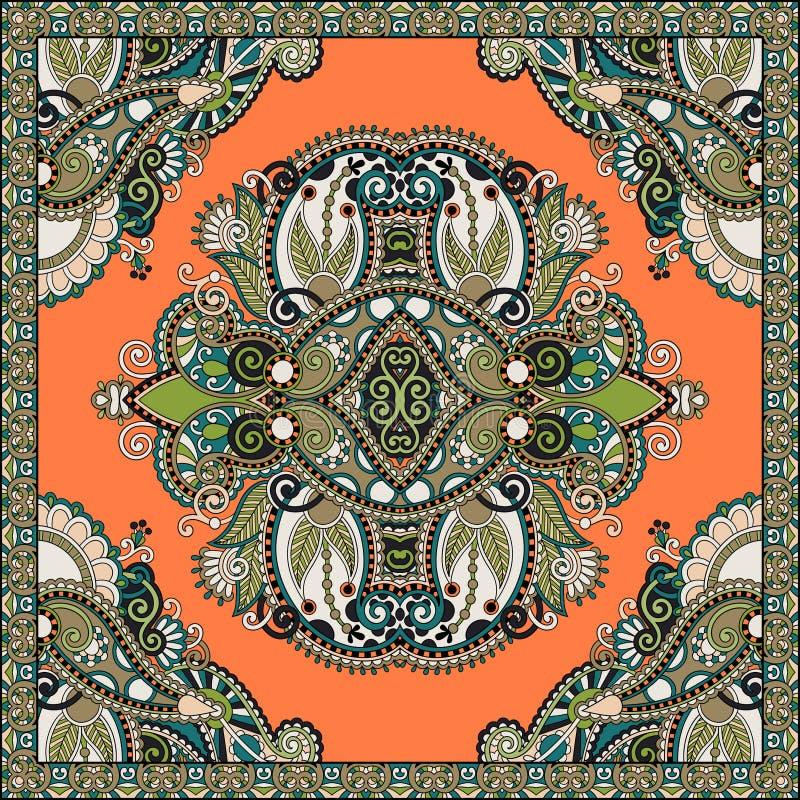 在u的地道丝绸围巾或方巾方形的样式设计图片