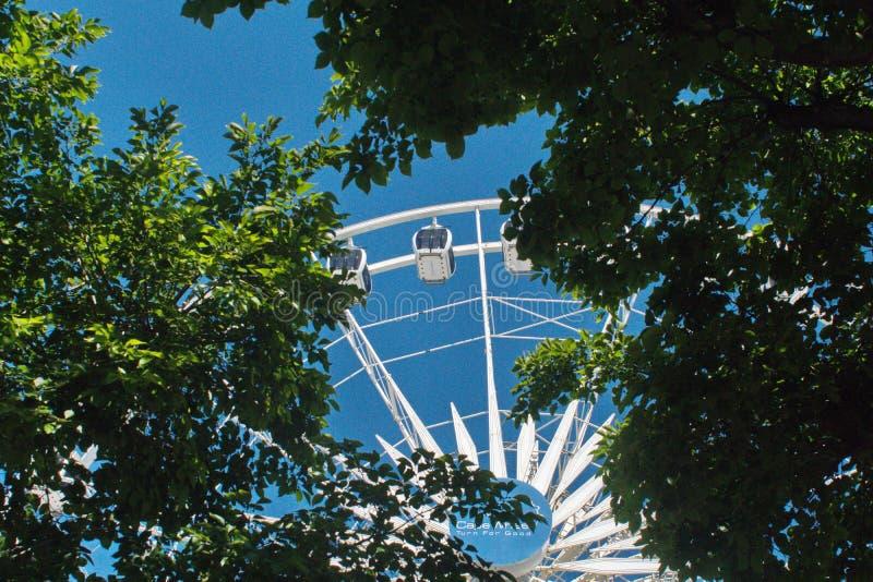 在V&A江边的海角轮子 图库摄影