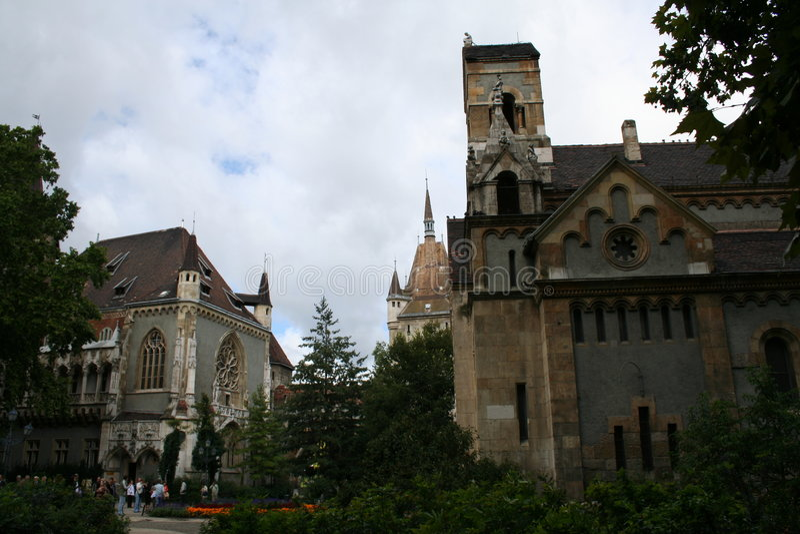 在vajdahunjad里面的城堡 库存图片
