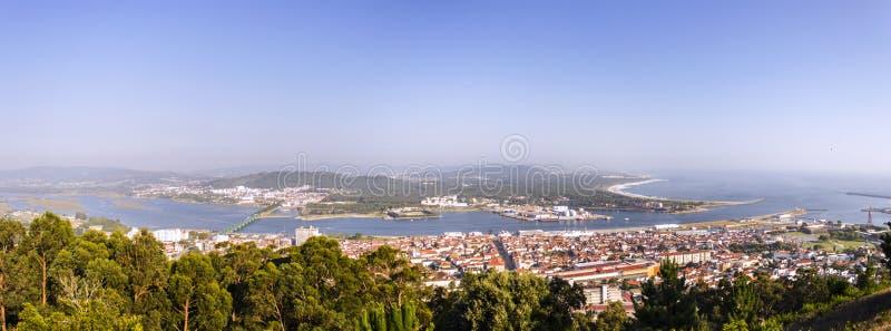 在Viana do Castelo的全景 图库摄影