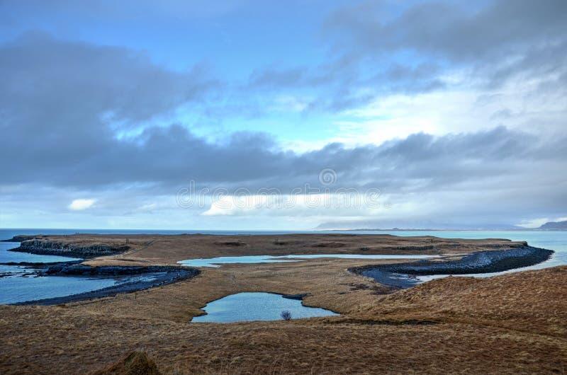 在Videy海岛的壮观的荒芜 免版税图库摄影