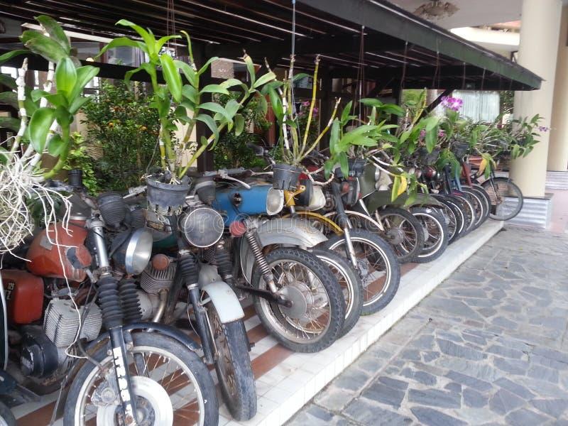 在viettnam的老motobikes 库存图片