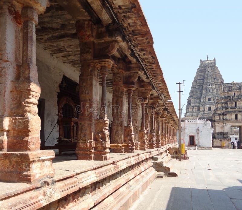 在Vijayanagara的Virupaksha寺庙 库存图片