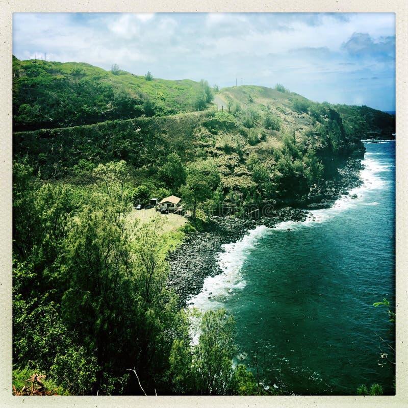 在Wailuku的岸在毛伊 库存图片