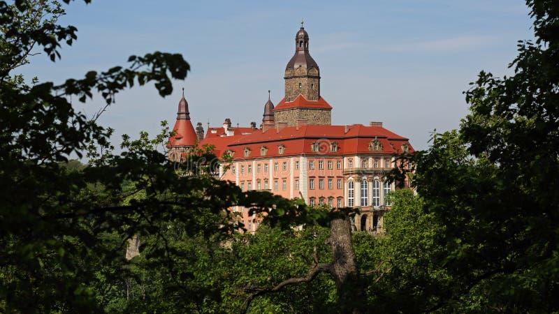 在Walbrzych,波兰附近的Ksiaz城堡 图库摄影