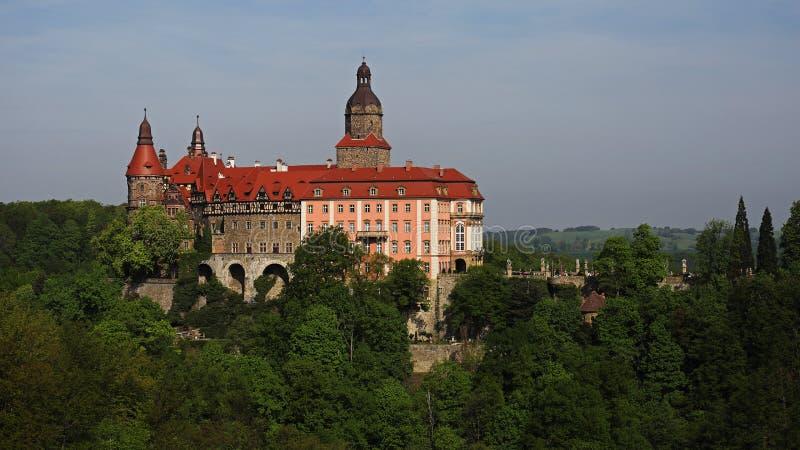 在Walbrzych,波兰附近的Ksiaz城堡 免版税库存图片