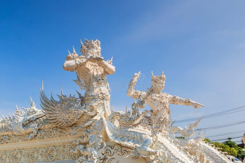 在Wat荣Khun,泰国的艺术 免版税库存照片