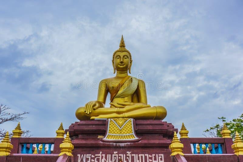 在Wat Lampho Kho Yo的菩萨雕象在宋卡,泰国 库存图片