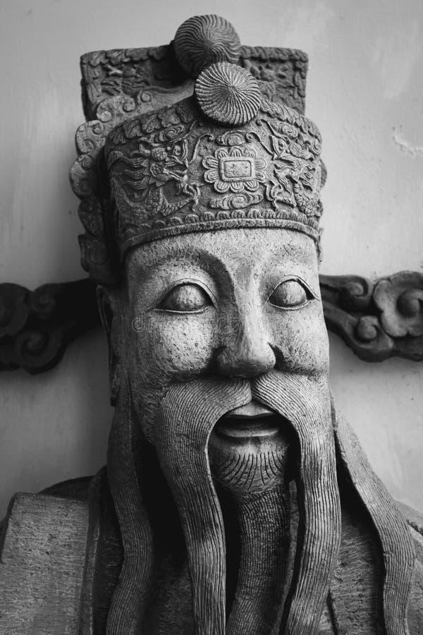 在Wat Pho寺庙的中国石雕象,曼谷,泰国 库存图片