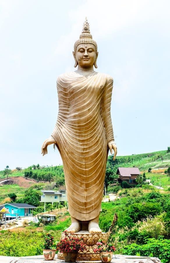 在Wat Phra的菩萨图象在Phetchabun泰国的那Pha Kaew 库存图片