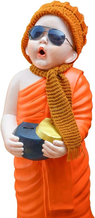 在Wat rakhang的修士雕象 免版税图库摄影