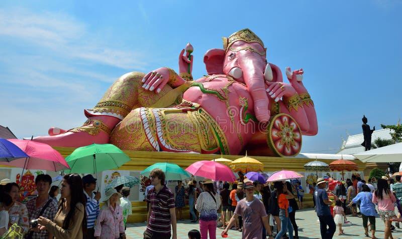 桃红色Ganesha 免版税库存图片