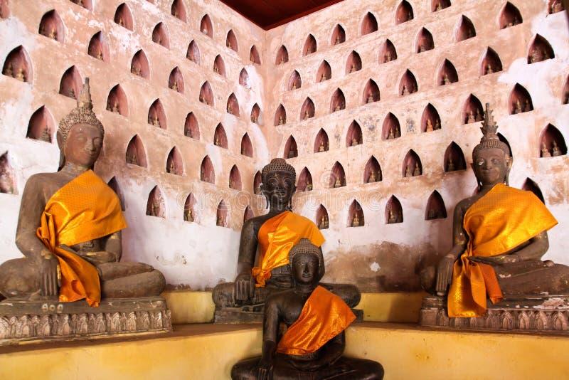 在Wat Si Saket的菩萨图象 库存图片