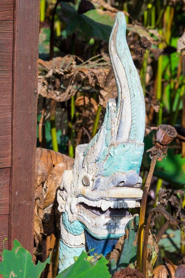 在WAT/Stucco的膏药雕象唱泰国兰纳/张Mai/艺术,美好 库存图片