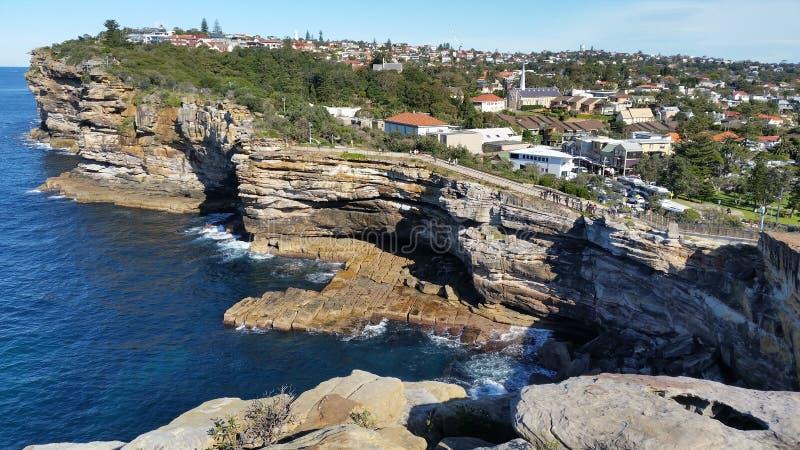 在Watsons海湾的空白监视在悉尼,澳大利亚 库存照片