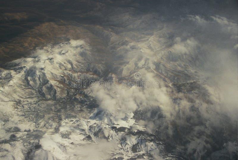 在Westen山的云彩形成 免版税库存图片