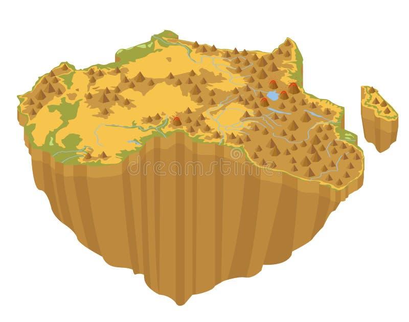 在wh的平的3d等量非洲地图建设者元素 向量例证