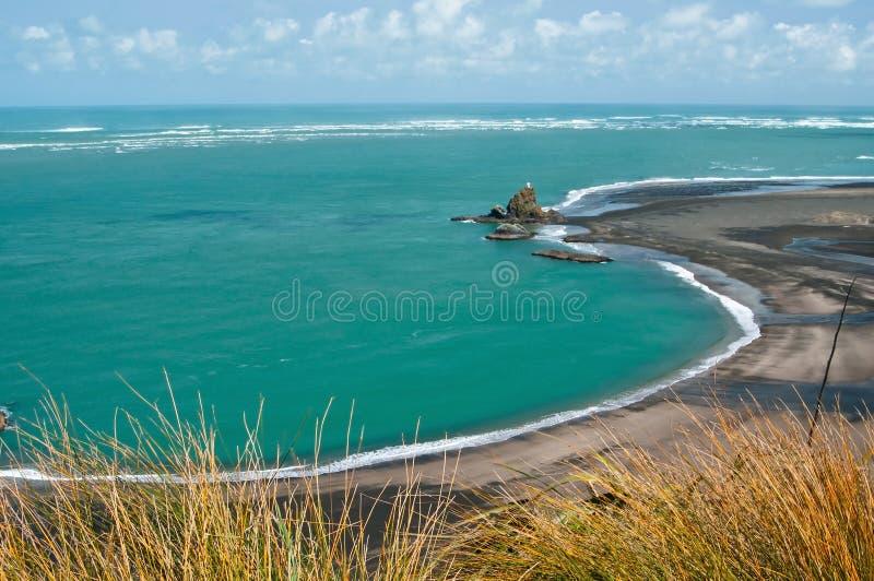 在Whatipu海湾的一幅全景 库存图片